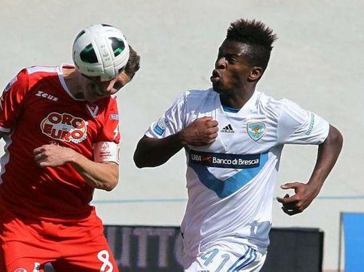 Début de Joël Baraye en Série B avec Brescia