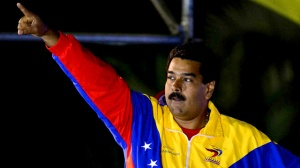 Nicólas Maduro celebrates victory in election