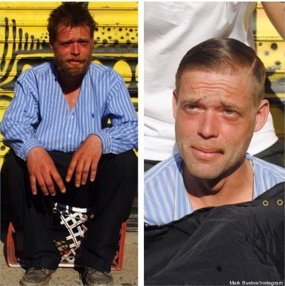 À New-York, un coiffeur coupe gratuitement les cheveux des sans-abris (4/4)