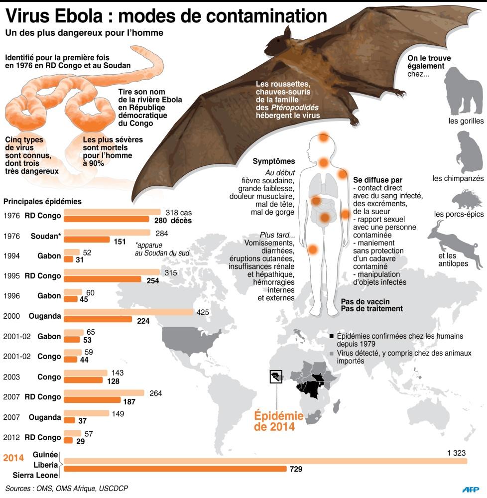 Ebola : les modes de contamination de la maladie