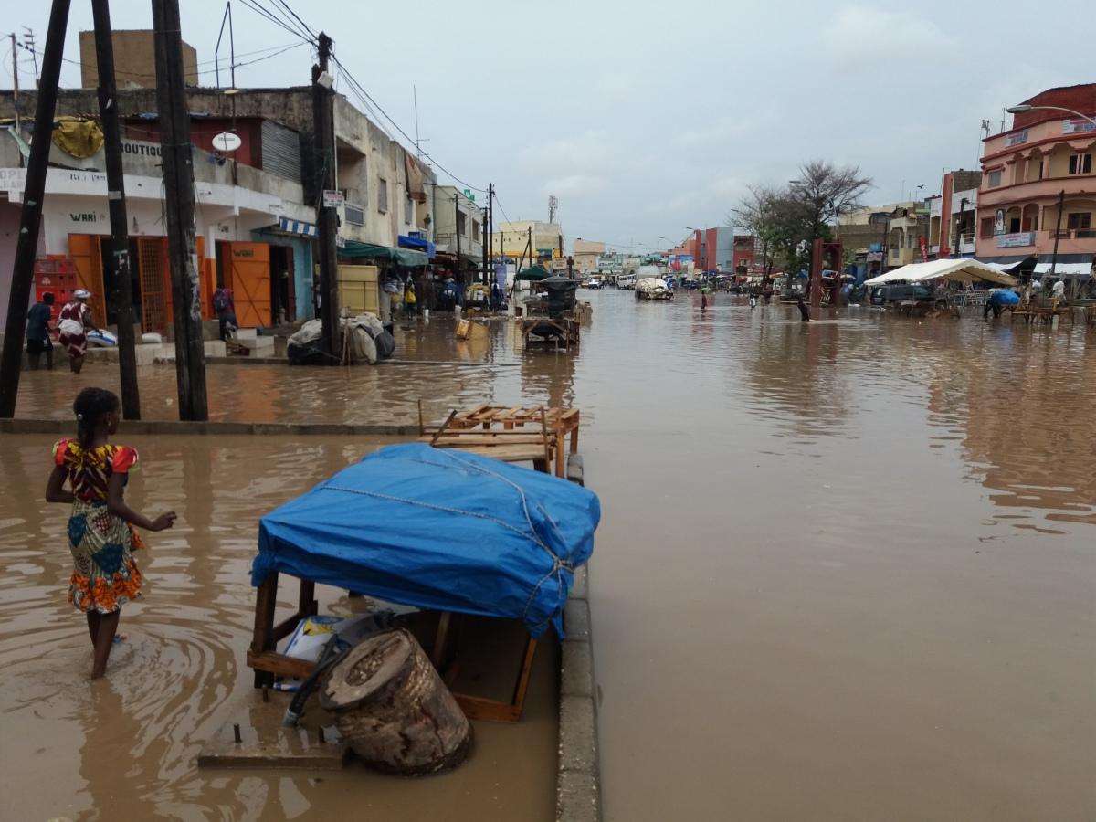 Les inondations à Grand-Yoff